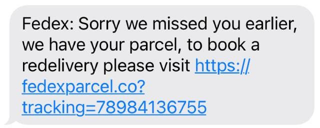 Fedex Delivery Text Scam